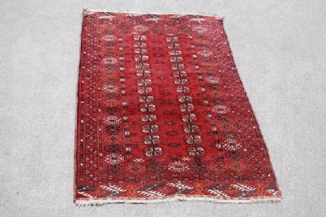 Geometric Design Persian Wool Rug 3.10x6.6
