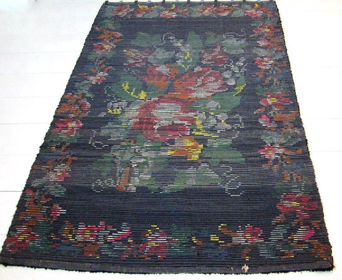 Antique Persian Esfahan Wool Rug 4.10x6.7