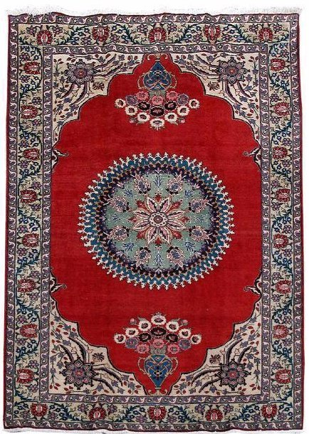 Persian Sarouk Semi-Antique Rug 7x10