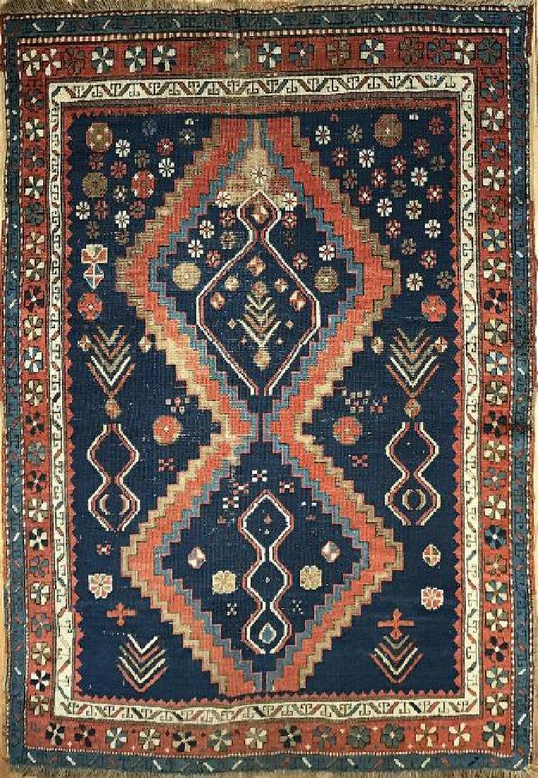 Kazak Antique Rug 4.3x5.7