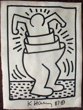 Keith Haring: Stacked Man