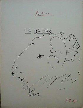 Pablo Picasso: Le Belier, Signed