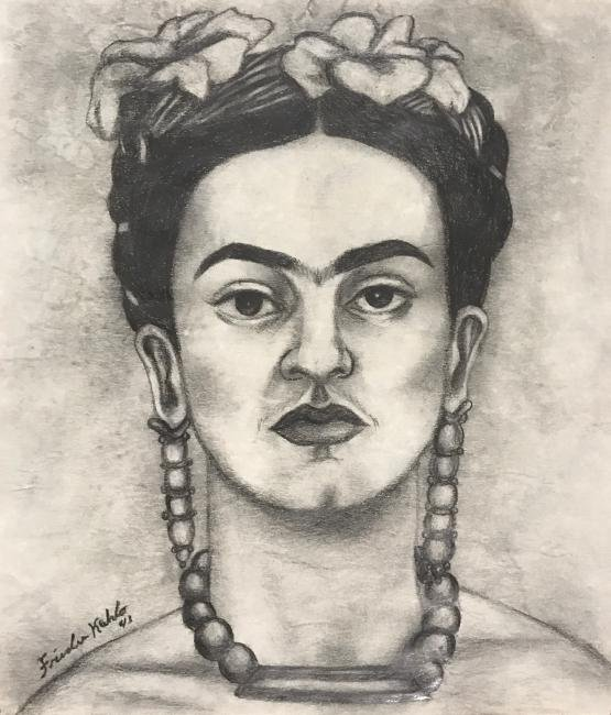 Frida Kahlo: Self Portrait, Signed