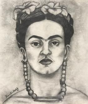 Frida Kahlo: Self Portrait, Signed