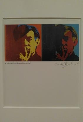 Andy Warhol: Double Self Portrait, 1986 Signed