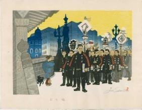 Junichiro Sekino: Nihonbashi and Firefighters