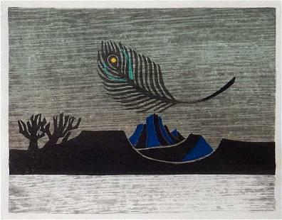 Kanamori Yoshio: Landscape with Feather