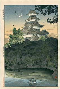 Kasamatsu Shiro: Matsumoto Castle Under Crescent Moon