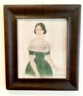 "19th Century ""Sandpaper"" Portrait"