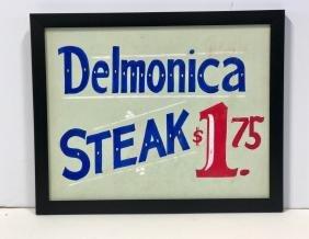 Delmonica Steak Sign