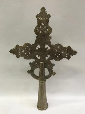 White Metal Ethiopian Processional Coptic Cross