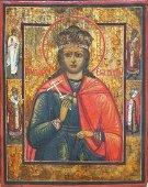 Saint Catherine of Alexandria Russian Icon, 19th C