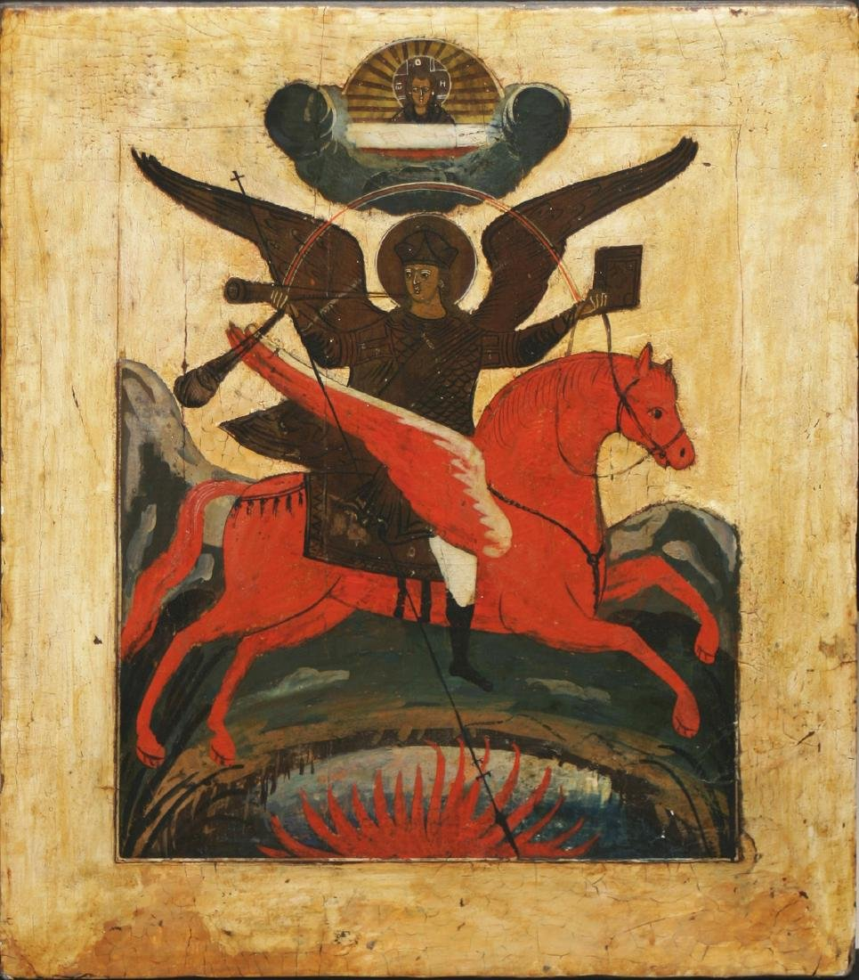 Saint Archangel Michael Russian Icon, 19th C