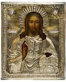 Christ Pantocrator Oklad Russian Icon, 1839