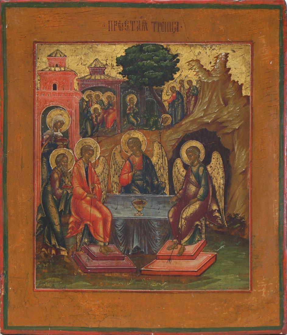 Old Testament Trinity Russian Icon, 17th-18th C