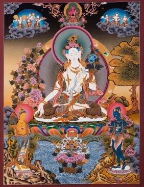 Karsang Lama: White Tara Thangka