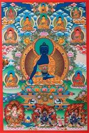 Sattal Lama: Medicine Buddha Thangka