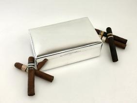 Walker & Hall Sterling Silver Cigar Box, 1925