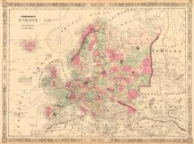 Johnson's Map of Europe , 1863
