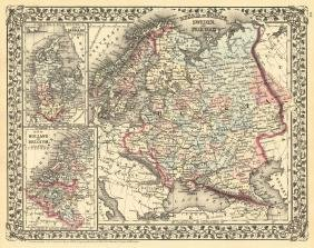 Mitchell: Map of Russia in Europe, 1879
