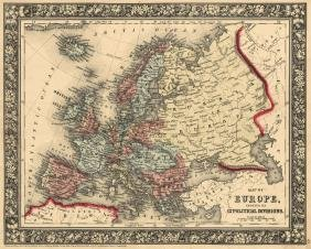 Mitchell: Political Map of Europe, 1860