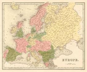 Bradford: Map of Europe, 1841