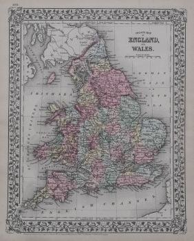 Mitchell: Map of England and Wales, 1881