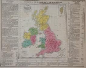 Map of England Scotland & Ireland, 1821