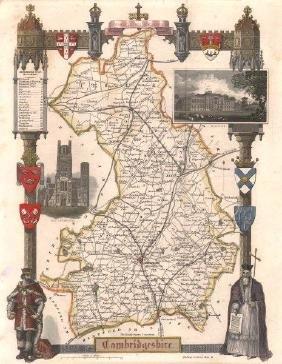 Moule: Cambridgeshire County Map. Railways, 1840