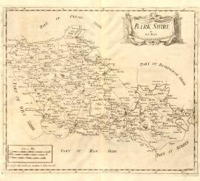 Berkshire: Bark Shire Map by Robert Morden, 1772