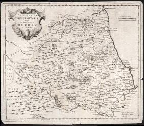 Morden: Bishopric of Durham Map, 1695