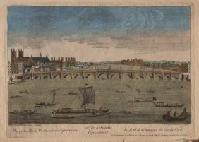 Le Pont Du Westminster Du Cote Du Nord, 1750