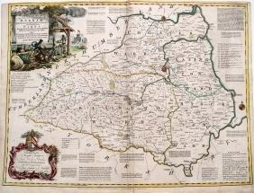 Kitchin: Map of Durham England, 1760