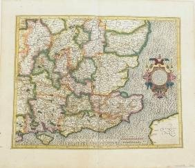 Mercator: Map of South East England, 1613