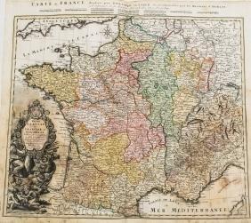 Homann: Map of France, 1742