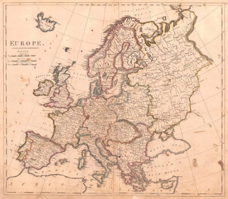 Carey: Map of Europe, 1814