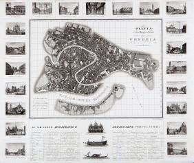Pianta Della Regia Città Di Venezia, 1831