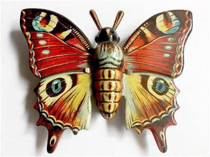 Tin Butterfly Friction Toy