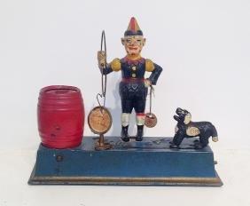 Hubley 'Trick Dog' Cast Iron Mechanical Bank