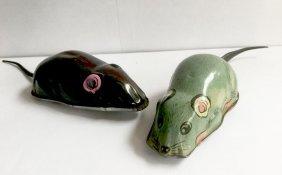 Two Tin Toy Mice