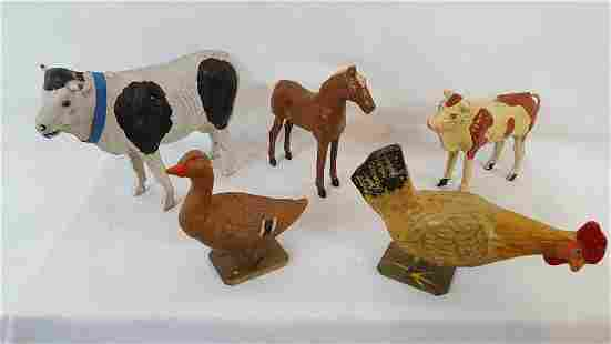Group Of 5 German Composition Animals