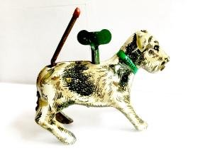 """""""Orio"""" the Dog Tin Wind Up Toy"""
