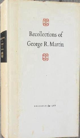 Recollections Of George R. Martin 1968