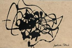 Attr. Jackson Pollock: Enamel on Board