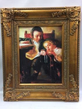 Judaica Oil Painting on Canvas