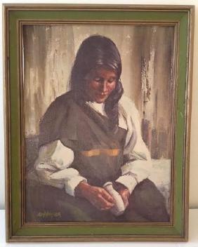 Lady Portrait Giclee Print, Signed & Framed