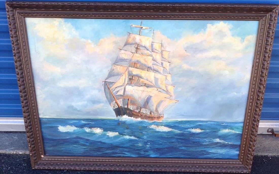 H. Yearsley: Sailing Boat, Framed & Signed