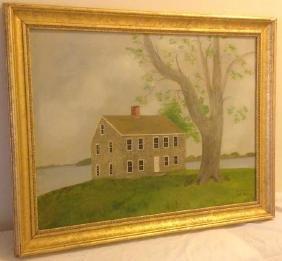 H.S. Pratt: Benjamin Tallmadge House, Signed & Framed