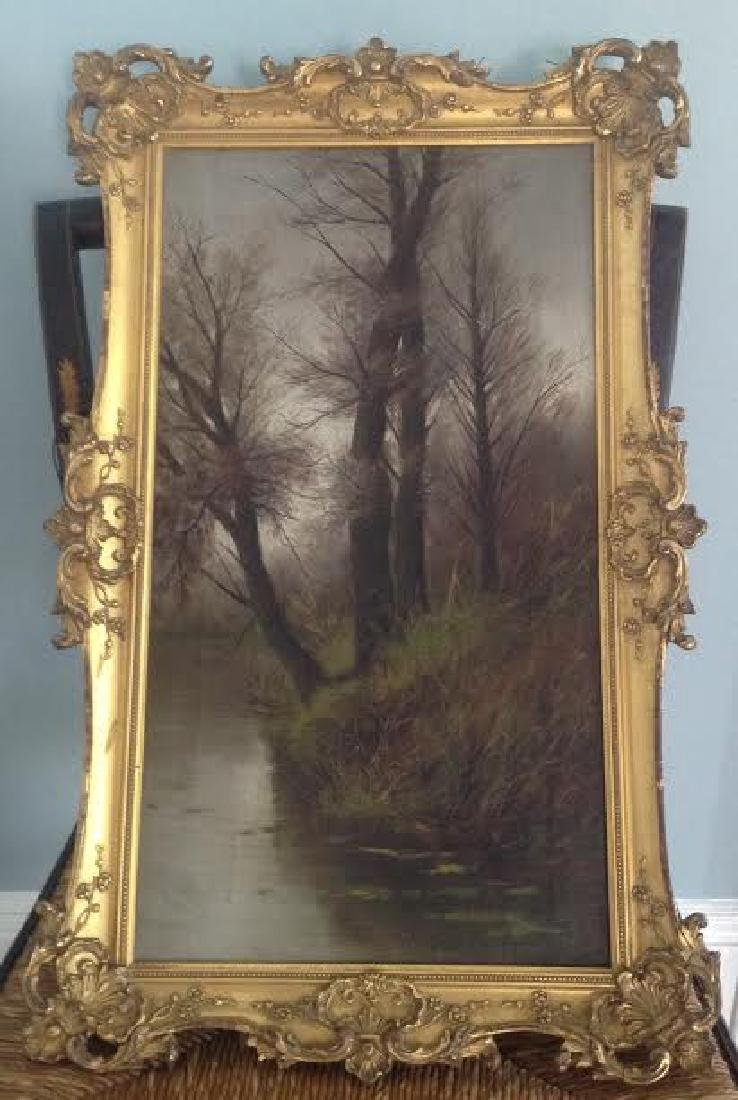 Francesco Capuano: Trees By A River Creek, Signed