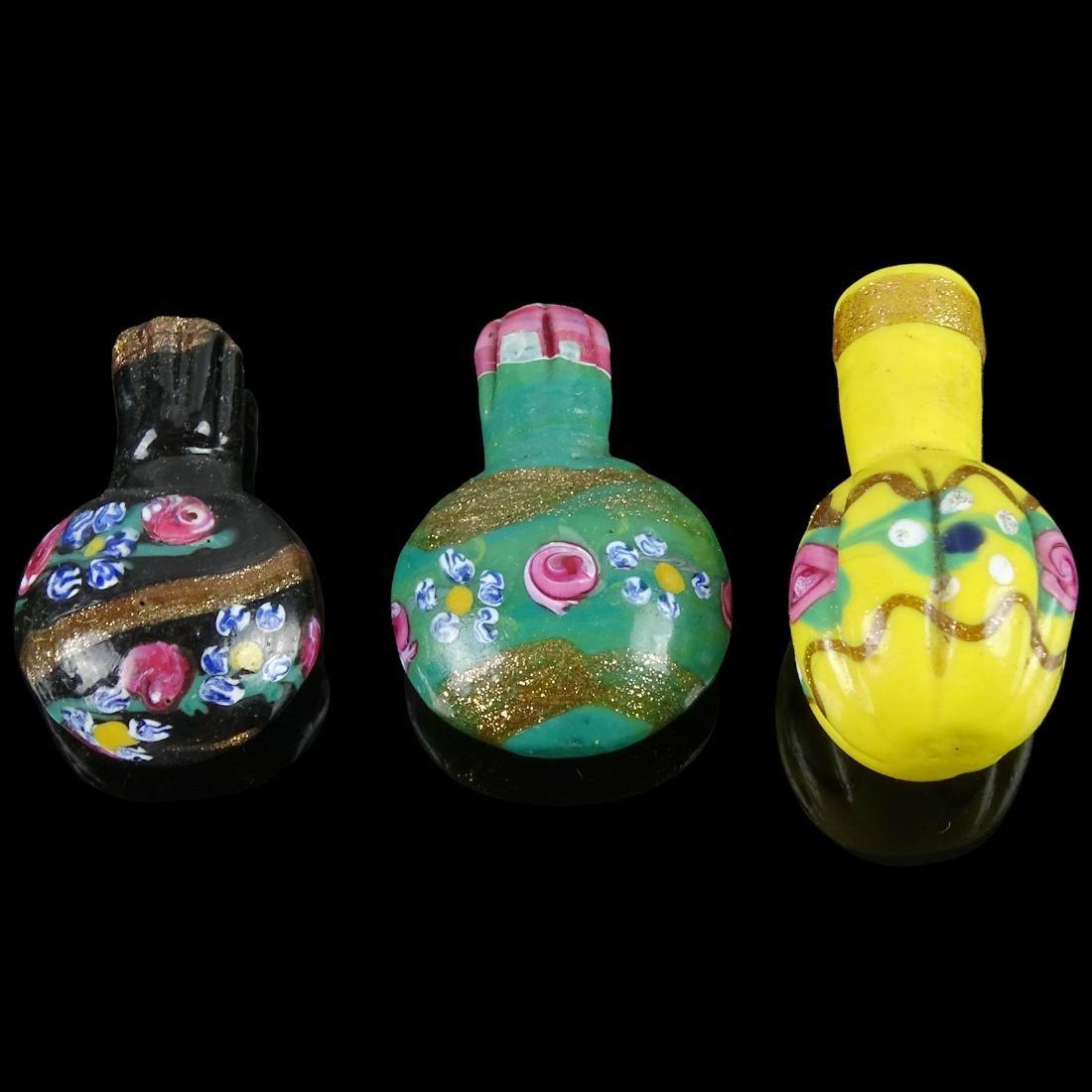 Venetian Lamp Work Scent Snuff Art Glass Bottles